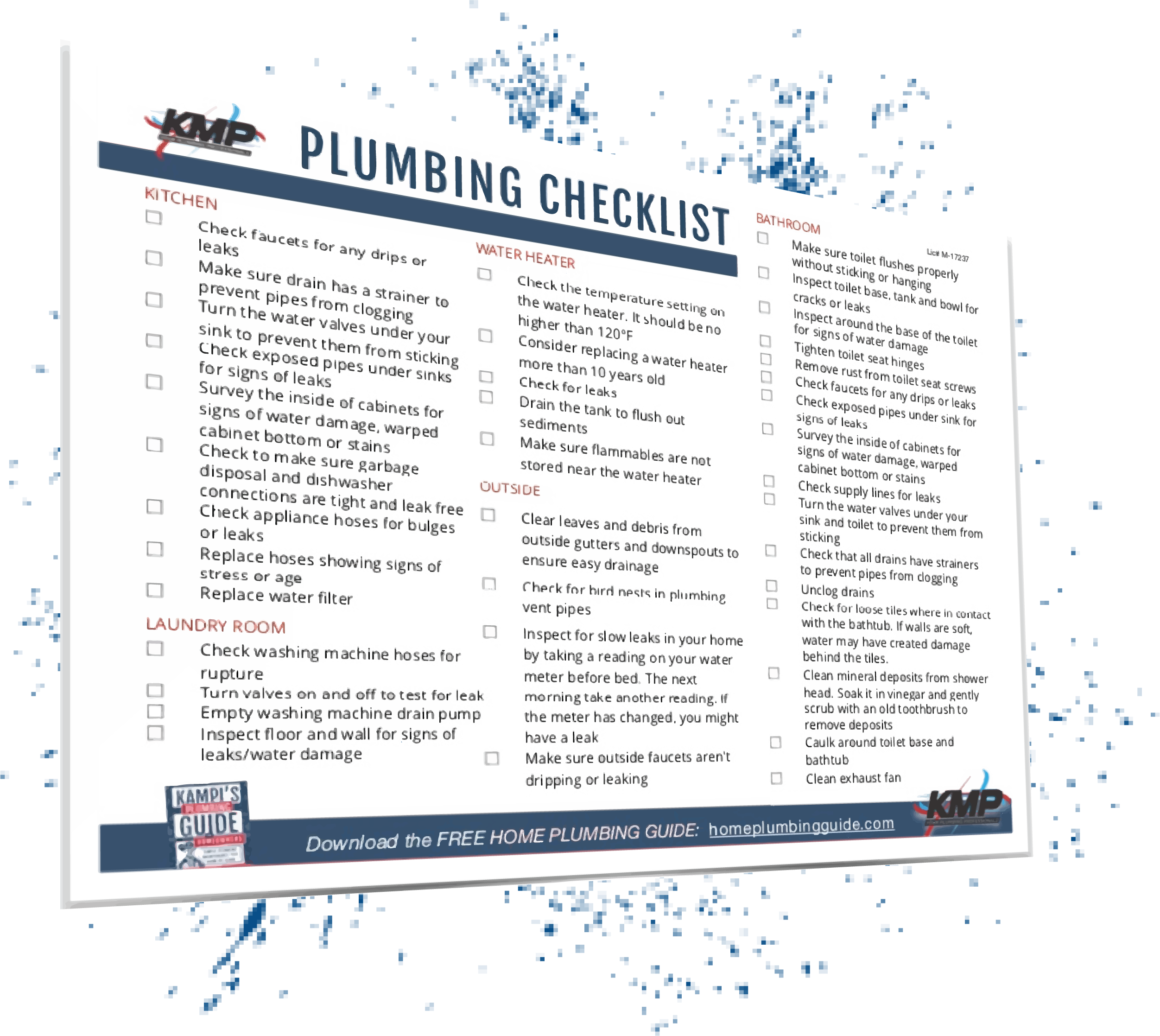 Plumbing Checklist for Homeowners